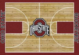 Ohio State Buckeyes Basketball Home Court Nylon Area Rug