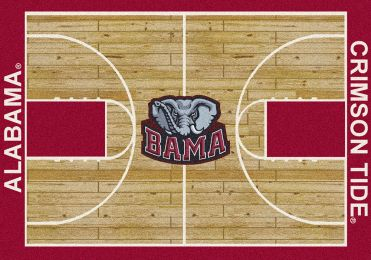 Alabama Crimson Tide Basketball Home Court Nylon Area Rug