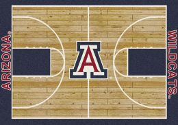 Arizona Wildcats Basketball Home Court Nylon Area Rug