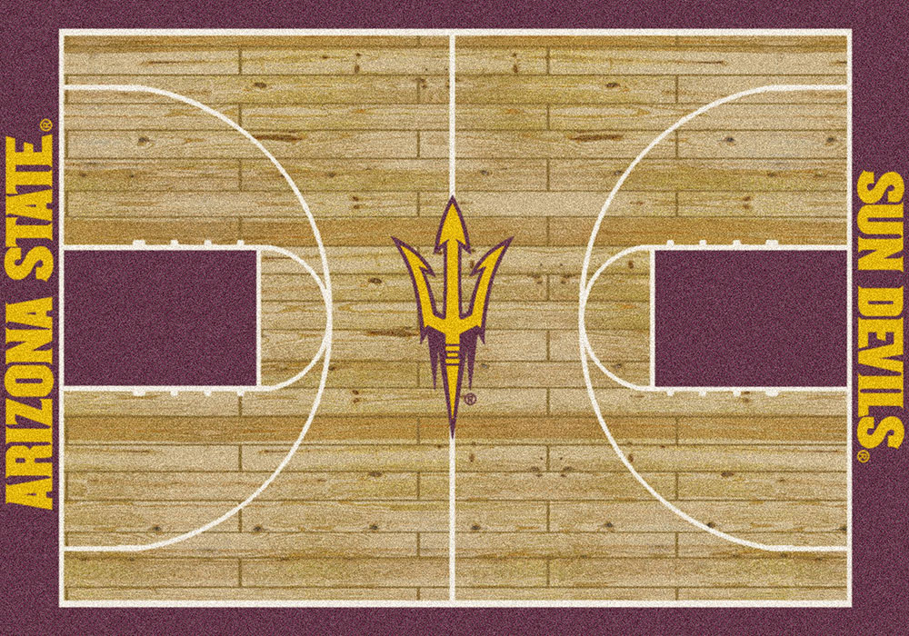 Arizona State Sun Devils Basketball Home Court Nylon Area Rug