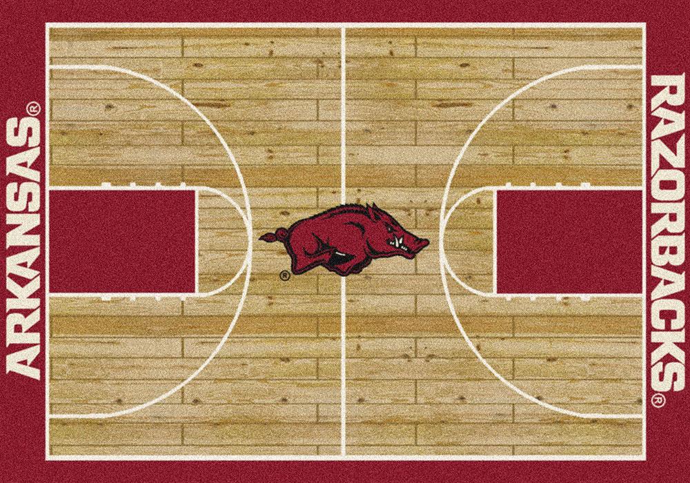 Arkansas Razorbacks Basketball Home Court Nylon Area Rug