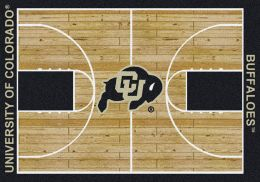 Colorado Buffaloes Basketball Home Court Nylon Area Rug