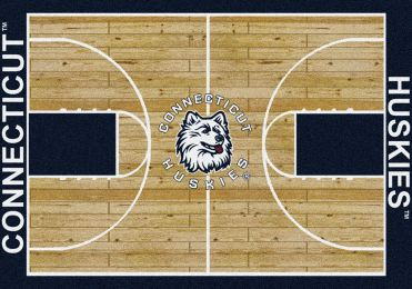 Connecticut Huskies Basketball Home Court Nylon Area Rug