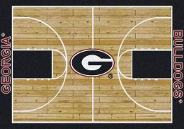 Georgia Bulldogs Basketball Home Court Nylon Area Rug