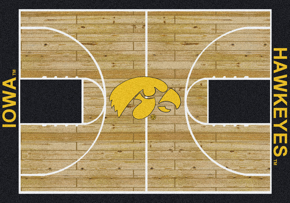 Iowa Hawkeyes Basketball Home Court Nylon Area Rug