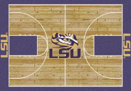 LSU Fighting Tigers Home Field Area Rug - Football Logo
