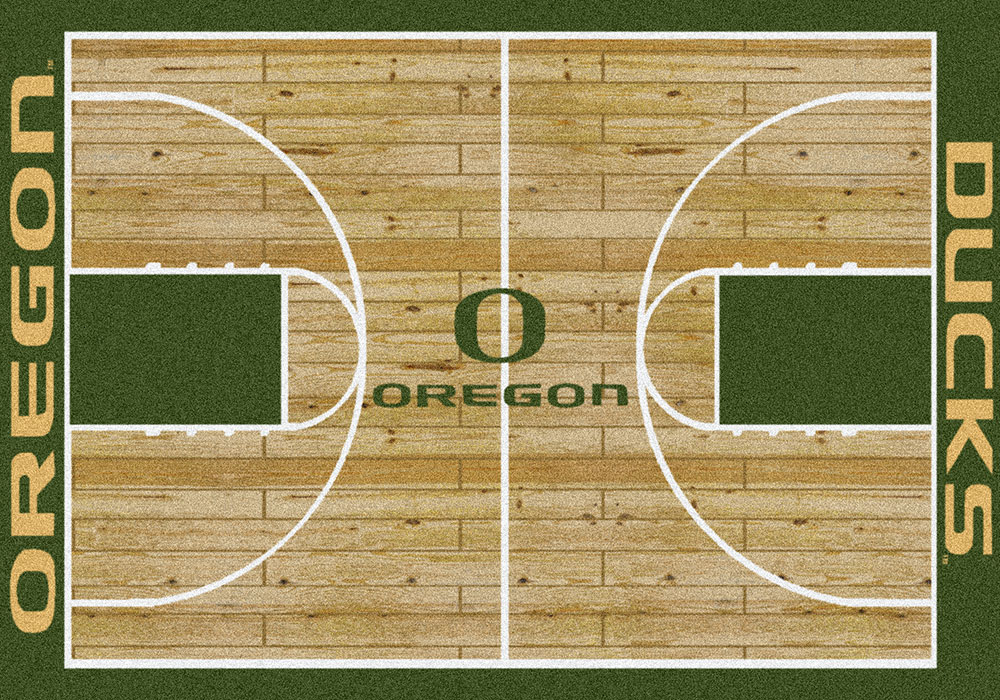 Oregon Ducks Basketball Home Court Nylon Area Rug