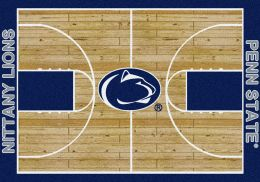 Penn State Nittany Lions Basketball Home Court Nylon Area Rug