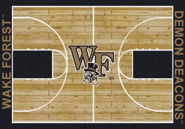 Wake Forest Demon Deacons Basketball Home Court Nylon Area Rug