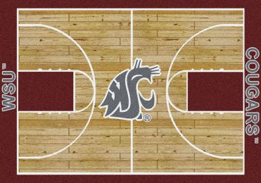 Washington State Cougars Basketball Home Court Nylon Area Rug