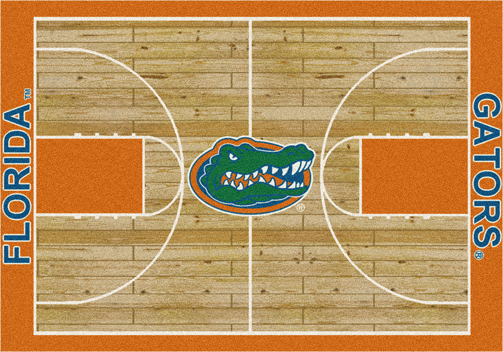Florida Gators Basketball Home Court Nylon Area Rug