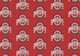 Ohio State Buckeyes Repeat Logo Area Rug - College Mat