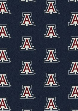 Arizona Wildcats Repeat Logo Area Rug - College Mat