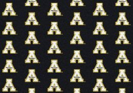 Appalachian State Mount Aineers College Repeating Logo Area Rug