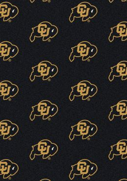 Colorado Buffaloes Repeat Logo Area Rug - College Mat