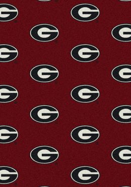 Georgia Bulldogs Repeat Logo Area Rug - College Mat