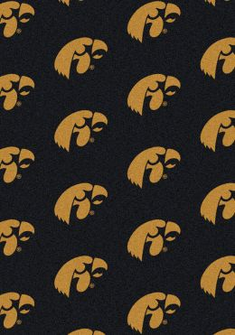 Iowa Hawkeyes Repeat Logo Area Rug - College Mat