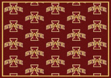 Iowa State Cyclones Repeat Logo Area Rug - College Mat
