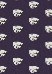 Kansas State Wildcats Repeat Logo Area Rug - College Mat
