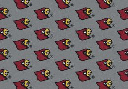 Louisville Cardinals Repeat Logo Area Rug - College Mat