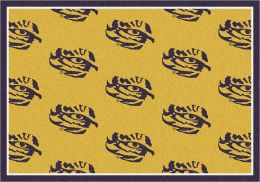 LSU Fighting Tigers Repeat Logo Area Rug - College Mat
