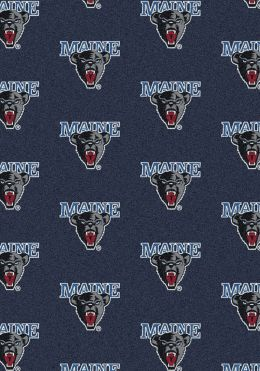 Maine Black Bears Repeat Logo Area Rug - College Mat