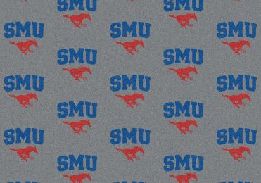 Southern Methodist Mustangs Repeat Logo Area Rug - College Mat