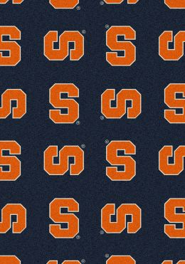 Syracuse University Orange Repeat Logo Nylon Area Rug