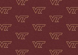 Virginia Tech Hokies Repeat Logo Area Rug - College Mat