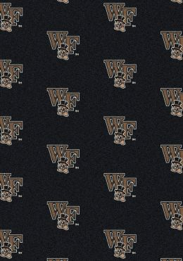 Wake Forest Demon Deacons Repeat Logo Area Rug - College Mat