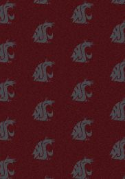 Washington State Cougars Repeat Logo Area Rug - College Mat