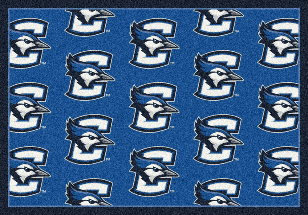 Creighton Blue Jays Repeat Logo Area Rug - College Mat