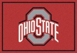 Ohio State College Spirit Logo Area Rug