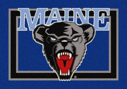 Maine College Spirit Nylon Logo Area Rug