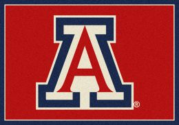 Arizona College Spirit Nylon Logo Area Rug