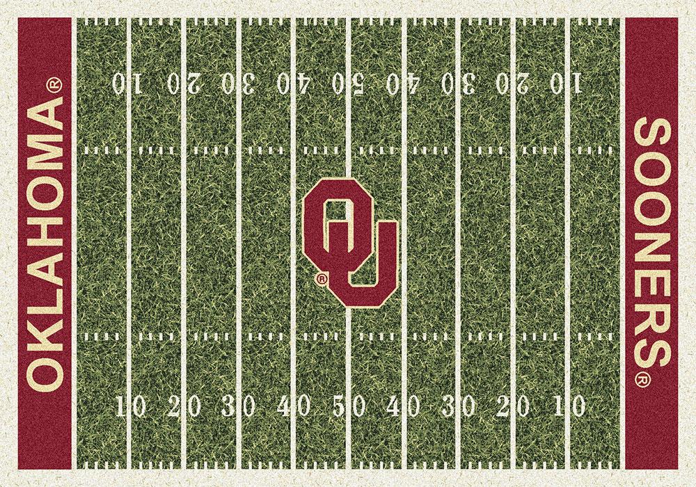 Oklahoma Sooners Home Field Area Rug Football Logo