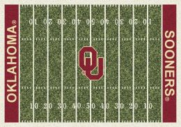 Oklahoma Sooners Home Field Area Rug - Football Logo