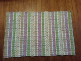 Darby Stripe Pink-Green Woven Rag Rug