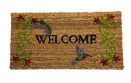 Classic Coir Hummingbird Welcome Doormat