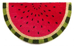 Classic Coco Coir Watermelon Shaped Doormat - 18 x 30