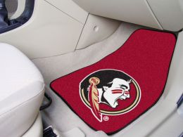 Florida State University Nylon 2pc Printed Carpet Car Mat Set