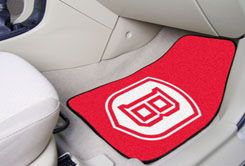 Bradley University Braves 2pc Carpet Floor Mat Set