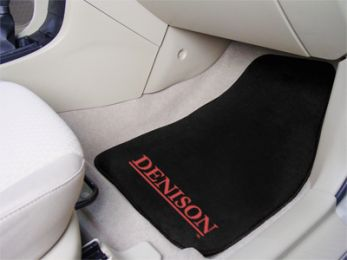 Denison University  2pc Printed Carpet Car Mat Set