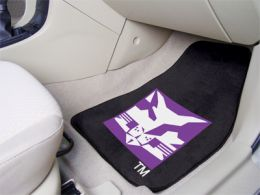 New York University Licensed  2pc Printed Carpet Car Mat Set