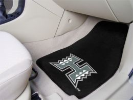 University of Hawaii Vinyl Backed 2pc Printed Carpet Car Mat Set