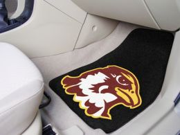 Quincy University Nylon Sports 2pc Carpet Car Mat