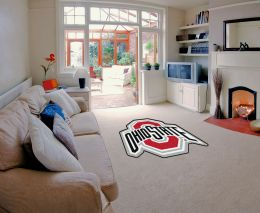 Ohio State University Mascot Shaped  Area Rugs
