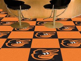 Baltimore Orioles Logo Team Carpet Tiles