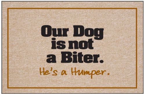 Dog S A Humper Doormat