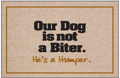 Dog 39 S A Humper Doormat